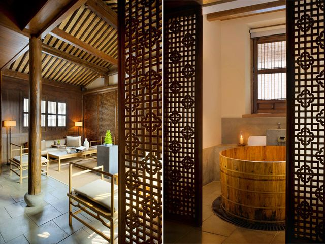 Ancient Chinese Wooden Bath Tub