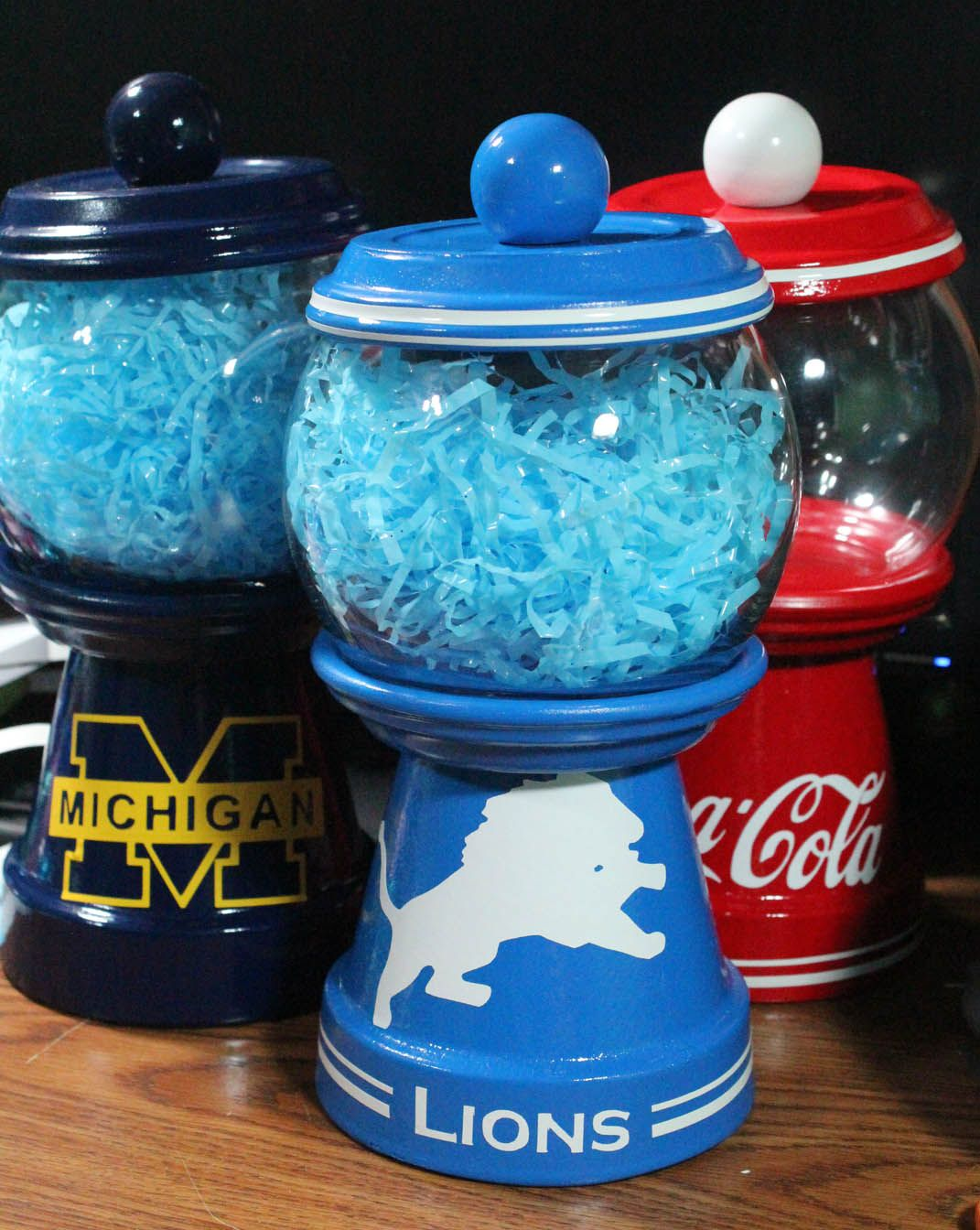 Faux Bubble gum machine Candy Jars