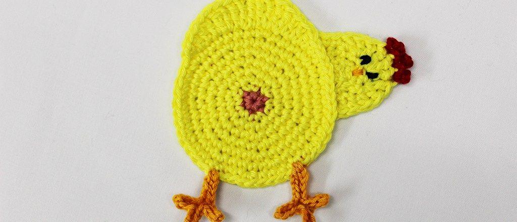 Kippen Onderzetters Gratis Haakpatroon Haken Haken Pasen