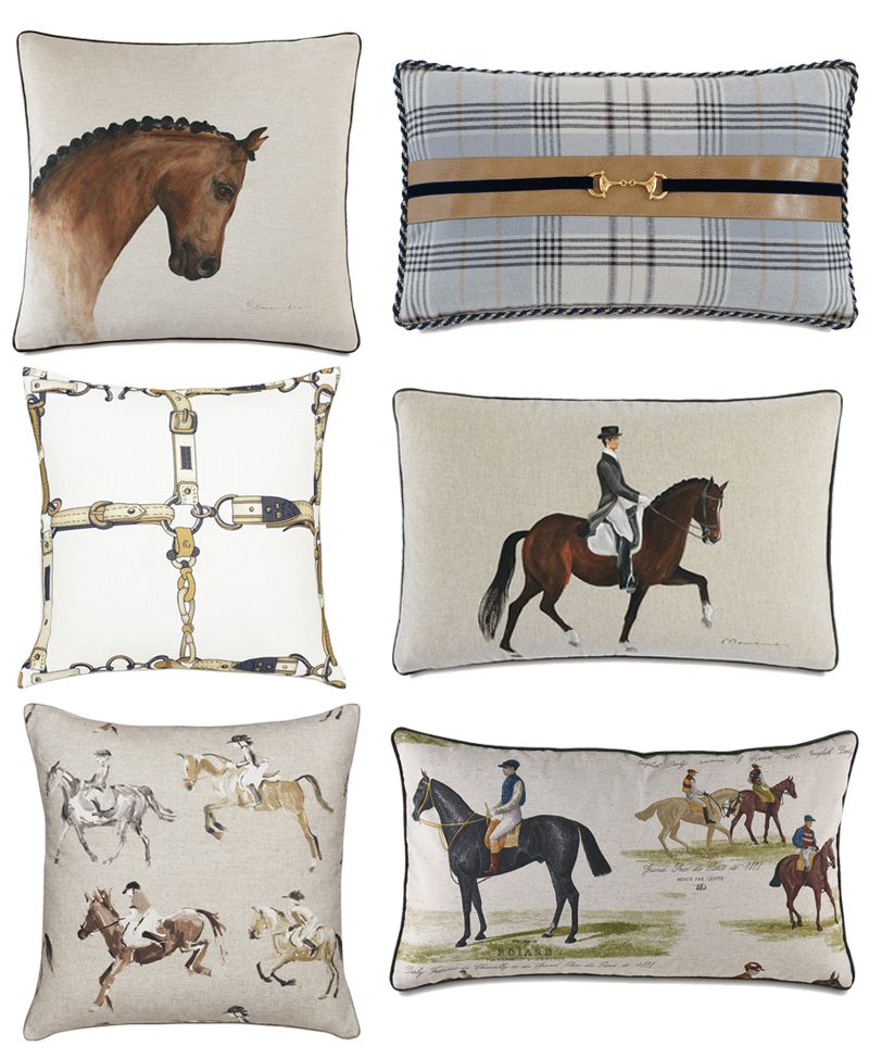 Neutral Equestrian Throw Pillows For Your Home Stable Style Throw Pillows Equestrian Decor Horse Pillow