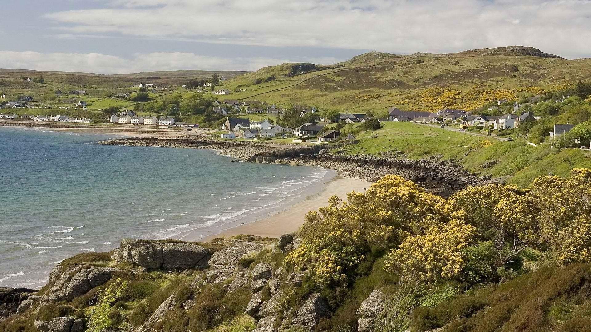 Xinaturecom Landscapes Sea Beach Rocks Wonderful Scotland