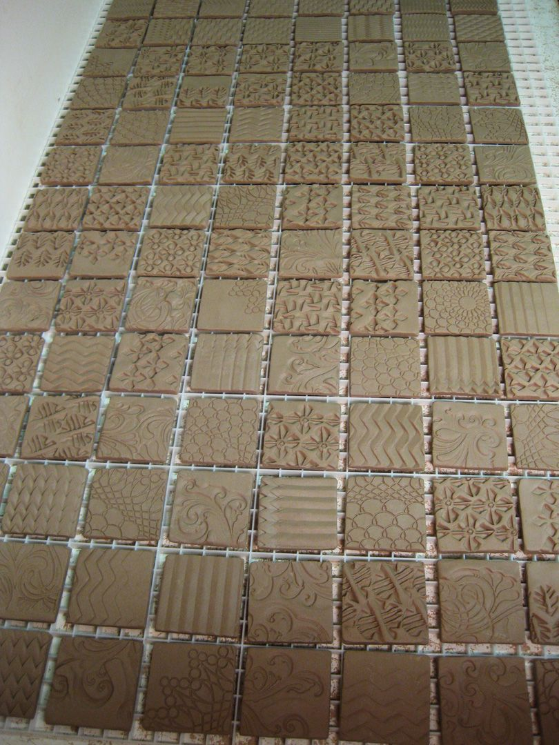 Textured ceramic tile production by gary jackson fire when ready idee tegeltjes laten drogen op een soort rooster handmade tiles can be colour coordinated and customized re shape texture pattern etc by ceramic dailygadgetfo Images
