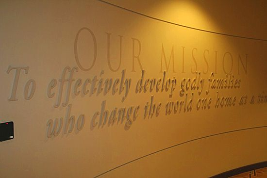 Creative Ways To Display Quotes: Mission Statement Wall - Google Search