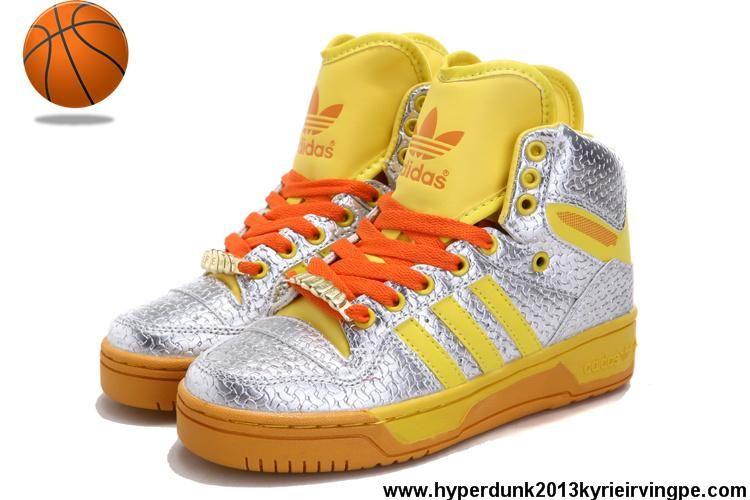 Cheap Discount Adidas Attitude Logo Double Heart Tongue Shoes Silver Yellow Fashion Shoes Shop
