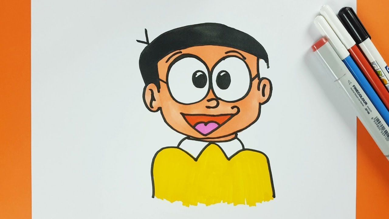 How to draw nobita from doraemon step by step easily doraemons
