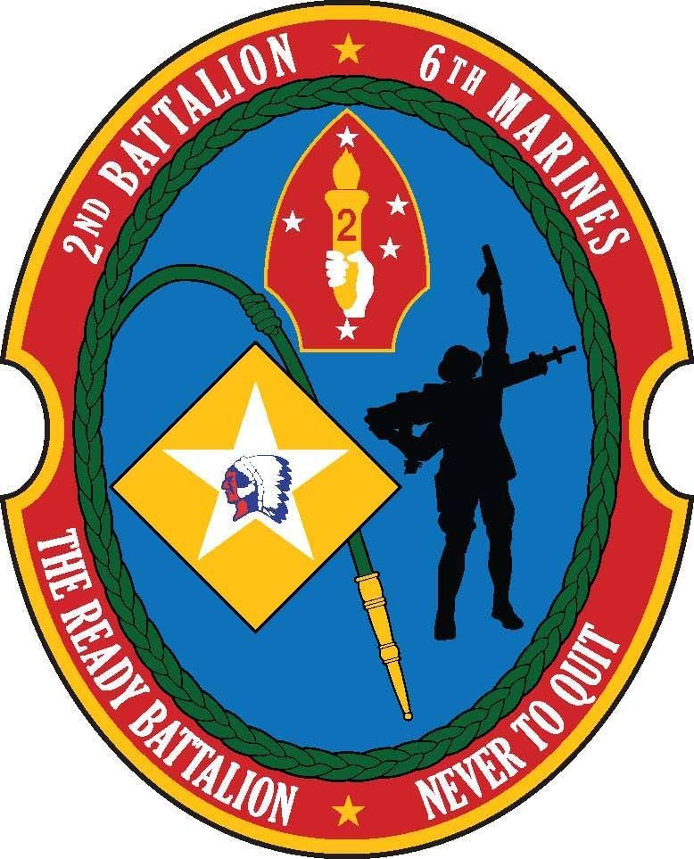 USMC 1st Battalion 6th Marines Insignia Military Graphics Decal Sticker Car