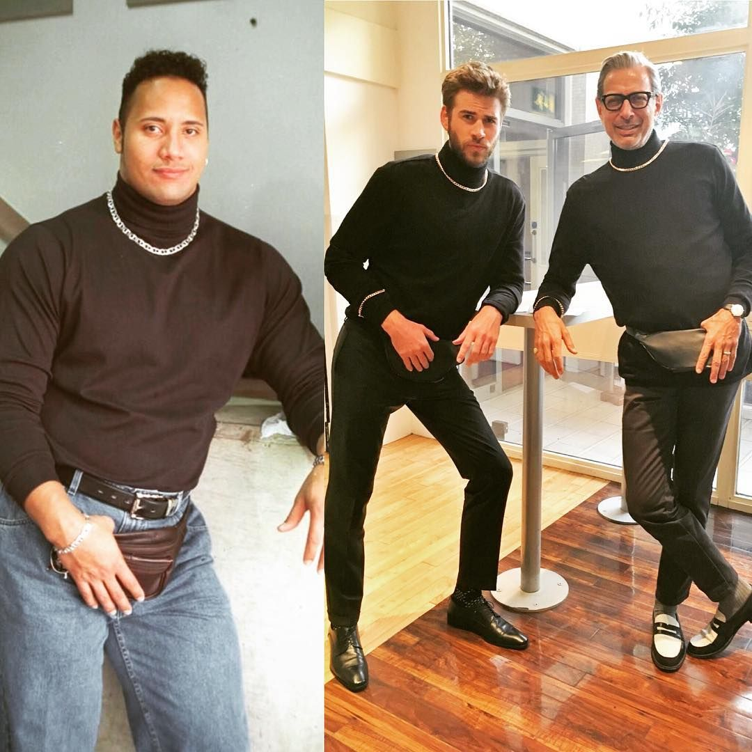 Celebitchy Who Wore It Better Dwayne Johnsons Fanny Pack