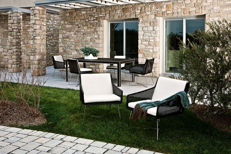 Wunderbar Sitzgruppe Im Garten: 5 Moderne Gartenmöbel Sets #polyrattan #lounge #tisch  #sofa #stühle #terrasse #teiligbetonoptik #polyrattansitzgruppe