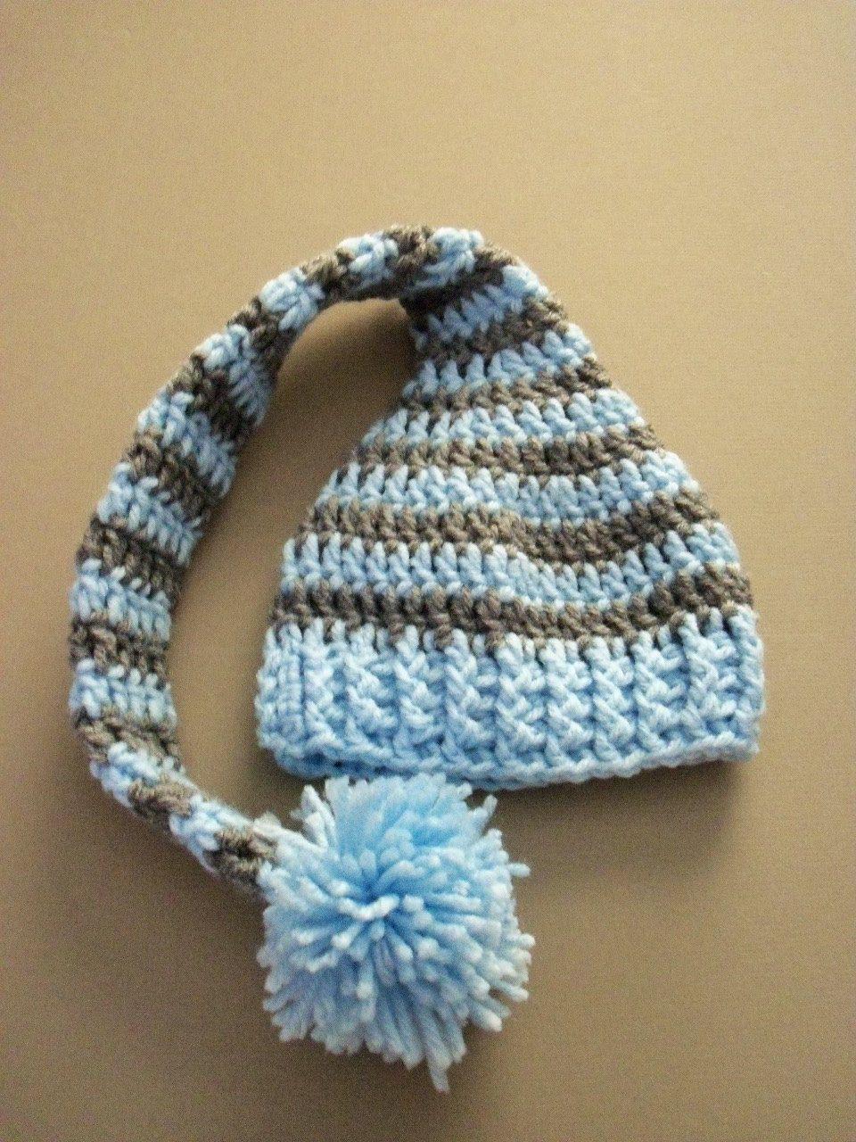 dd12a3bb8 Long Tail Elf Hat, Baby Elf Hat, Newborn Hat | Baby | Crochet baby ...
