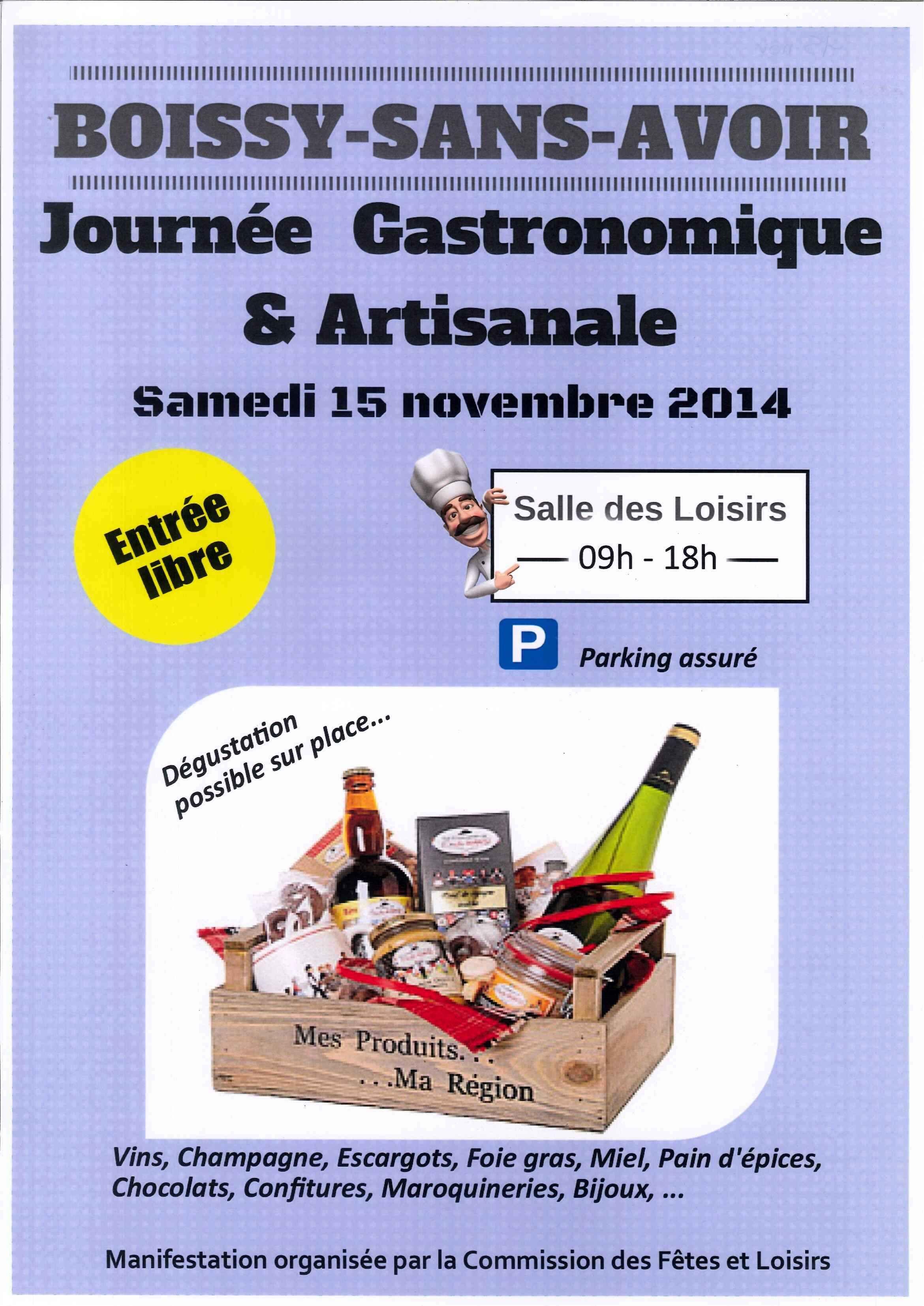 Journée Gastronomique & Artisanale Samedi 15 novembre de 9h à 18h