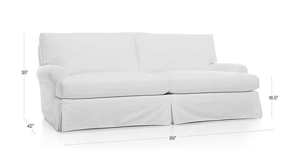 Ellyson Pee Slipcovered Sofa California Optic White Crate And Barrel