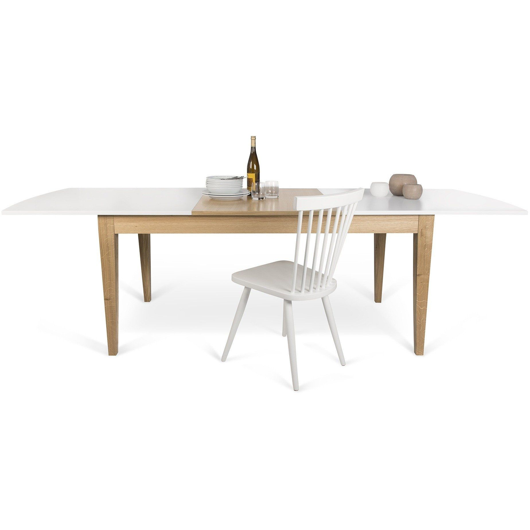 Niche Extendable Dining Table Pure WhiteOak by