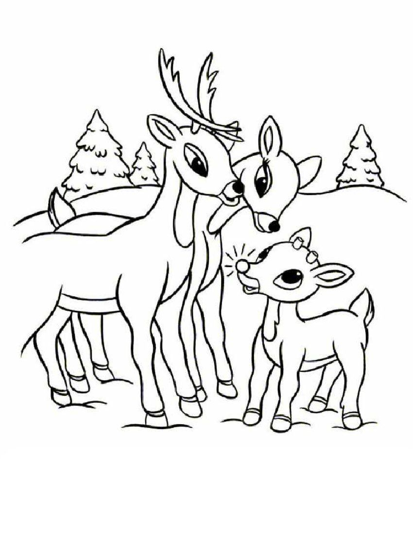 Rudolph The Red Nosed Reindeer Coloring Pages Deer Coloring