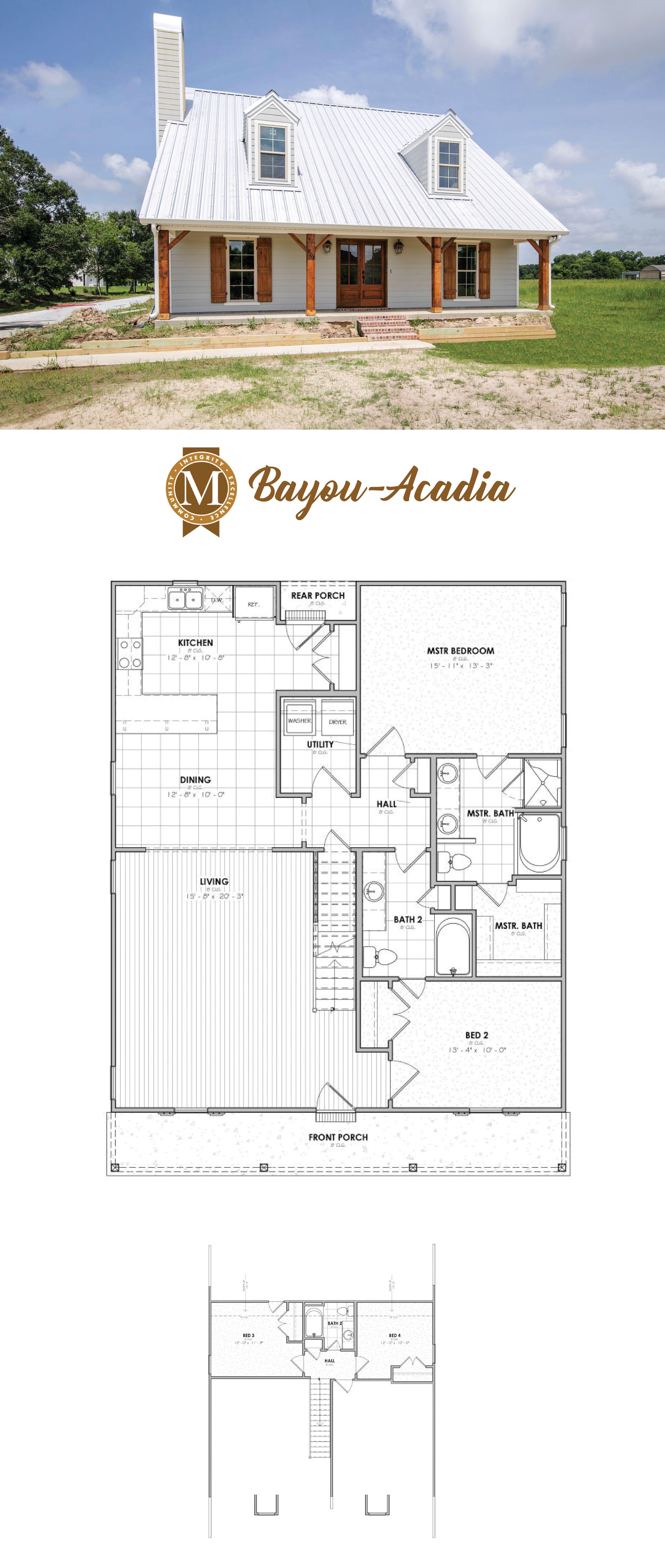 Lafayette Region Plan Acadia Bayou Living Square Feet 2024 Bedrooms 3 Bathrooms 3 Lafayette Lake Cha House Plans Farmhouse Barn House Plans House Plans