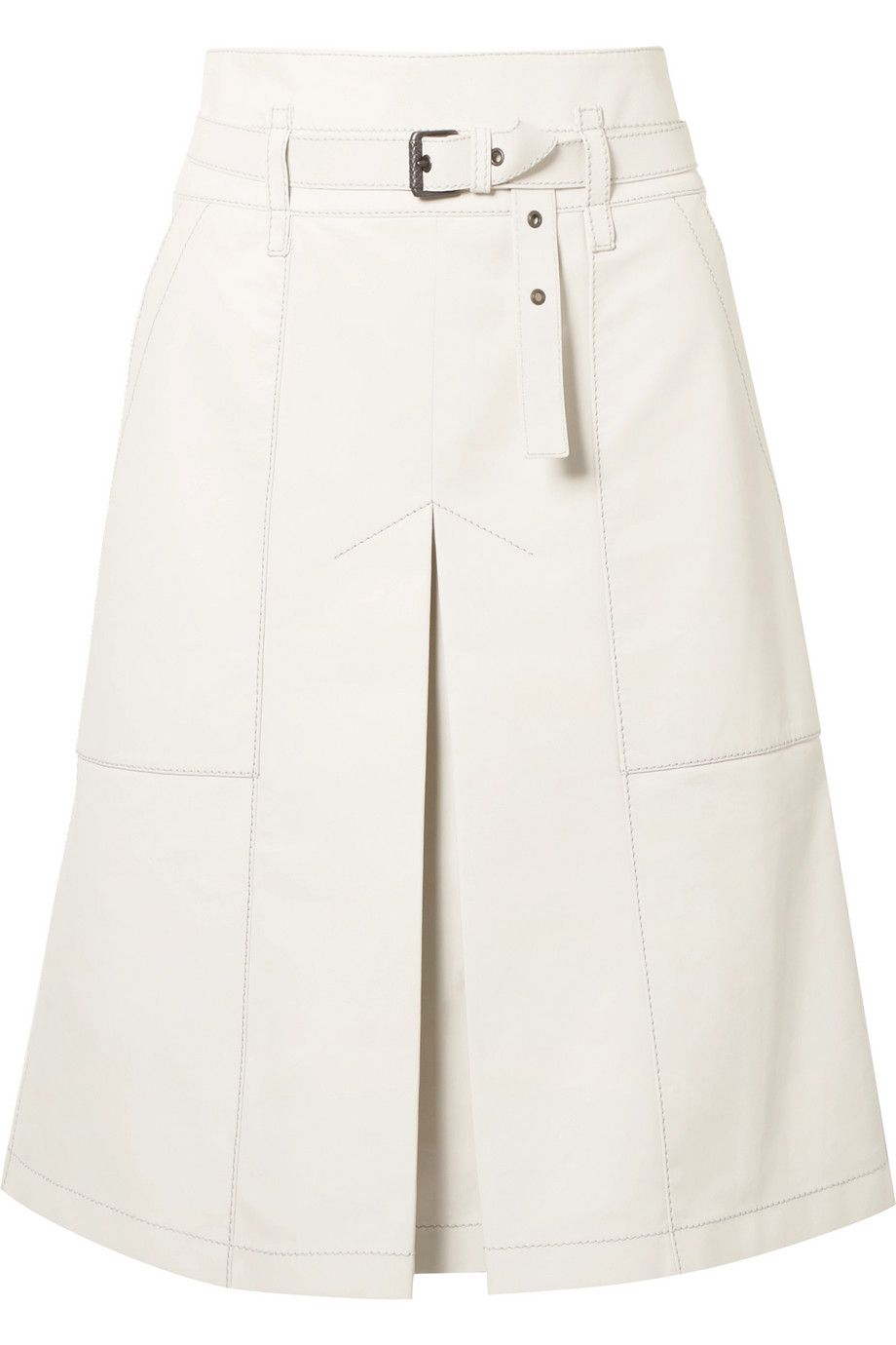 49a73670e Bottega Veneta | Belted leather skirt | NET-A-PORTER.COM | saias ...