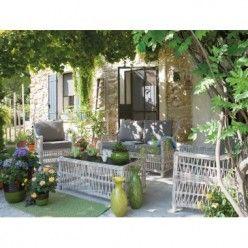 Salon de jardin dalma 4 pièces Salon de jardin DALMA en résine ...