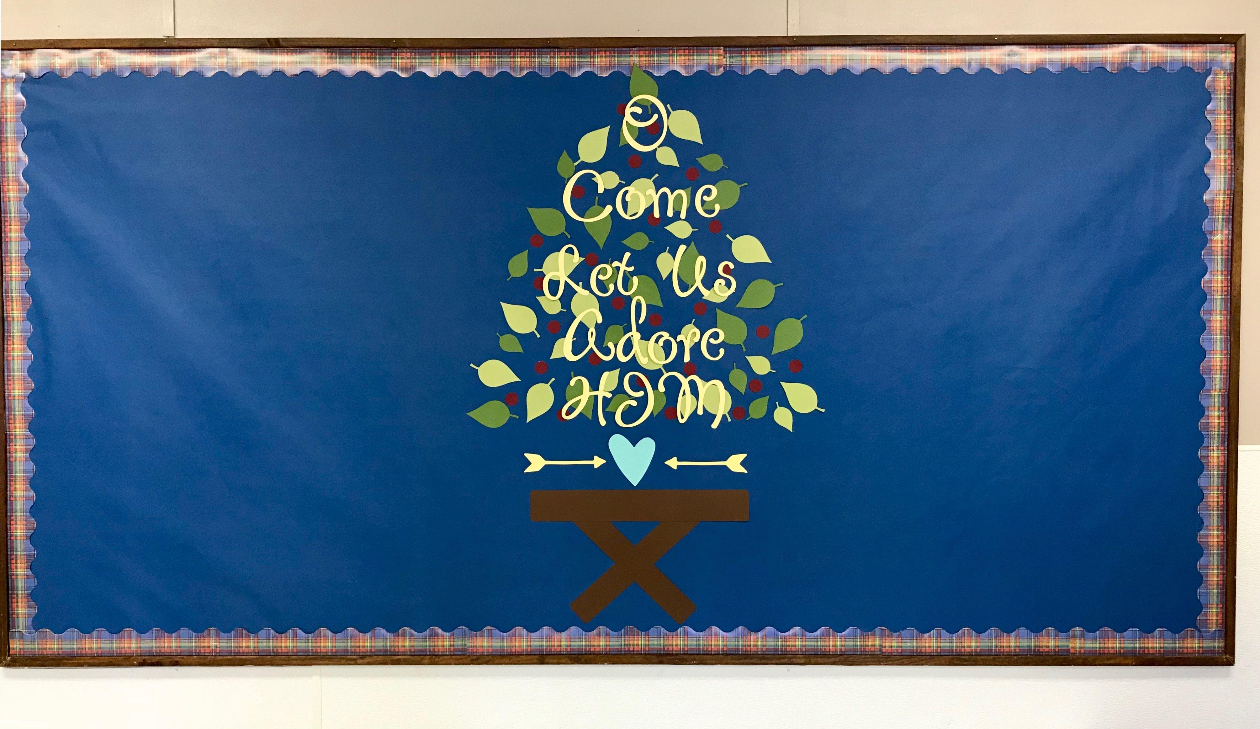 Christmas Bulletin Board Church Christian School Slm Boards