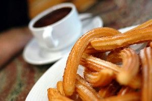 one of my favs. in España, churros con chocolate