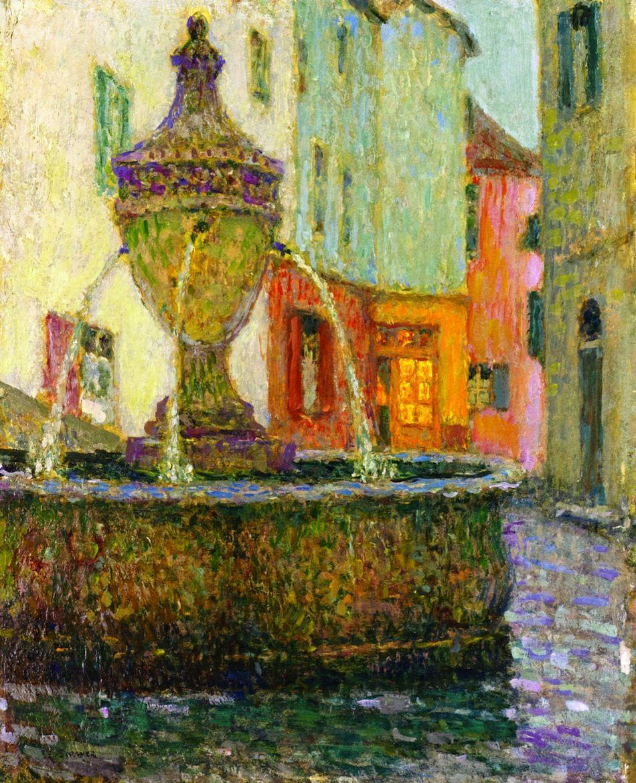 Saint Paul De Vence Art the fountain, saint-paul-de-vence henri le sidaner - 1925