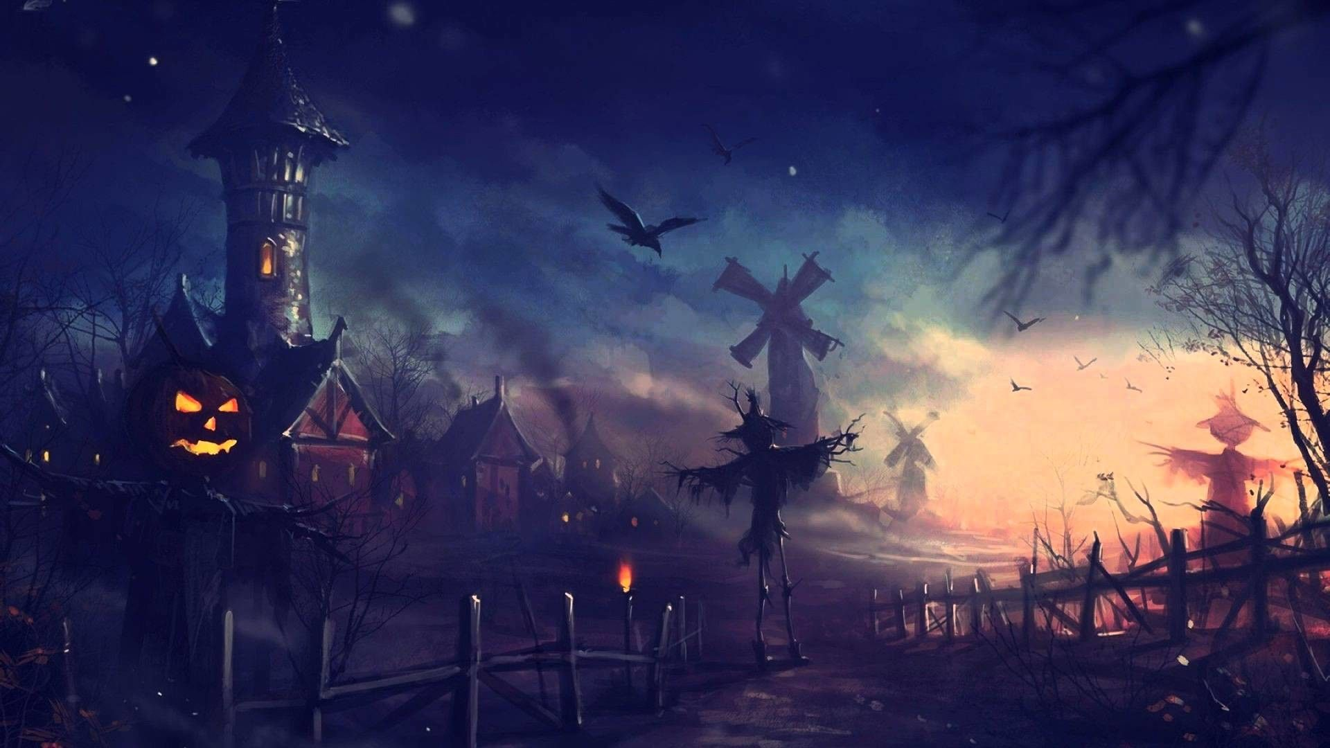 Spooky Halloween Night 1920x1080 Halloween Wallpaper Backgrounds Halloween Prints Halloween Backgrounds