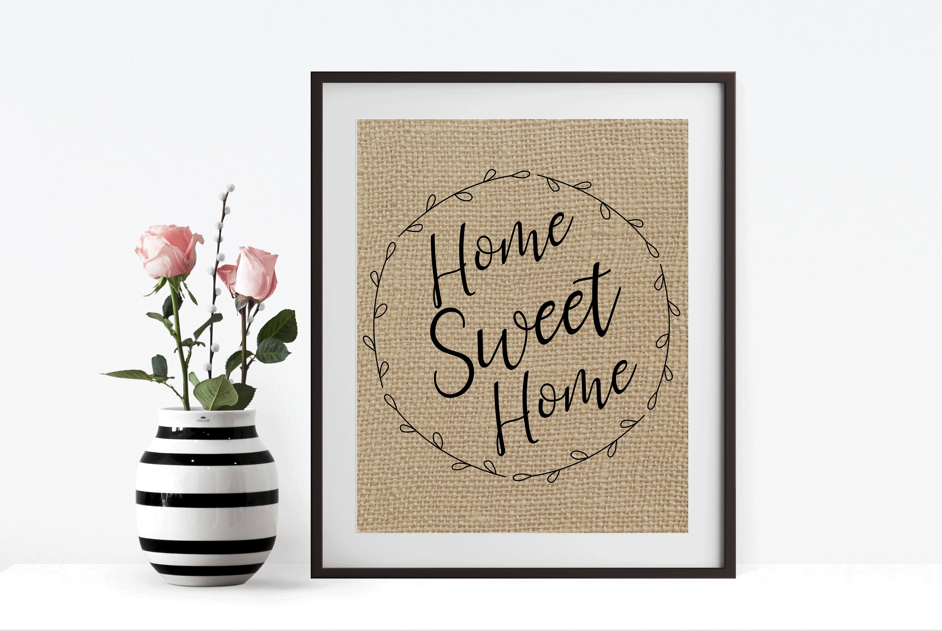 Home Sweet Home Print, Gallery Wall Art, Newlywed Gift, Wedding Gift, Wall  Poster, New Home Gift, Wall Quote Print, First Home, Wall Decor