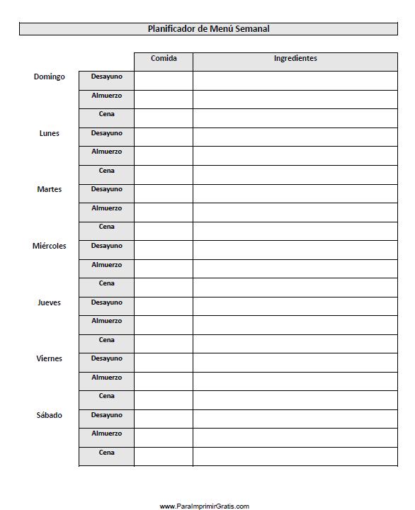 Agenda Semanal Para Imprimir Imagui Agenda Semanal Para