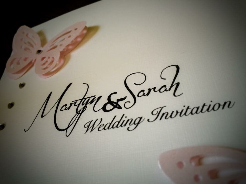 Pink butterfly wedding invitations   Twaites Designs Graphic ...