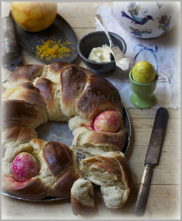 Tsoureki...Greek Easter Bread with Cardamom Spice and Orange Peel