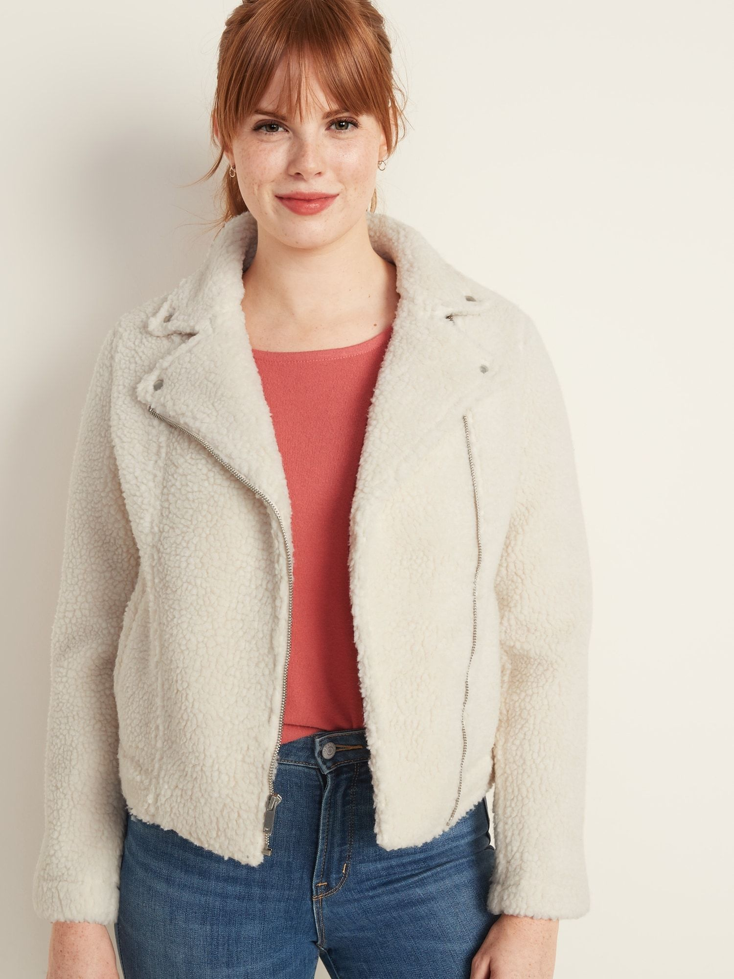 Sherpa Moto Jacket for Women Old Navy Jackets for