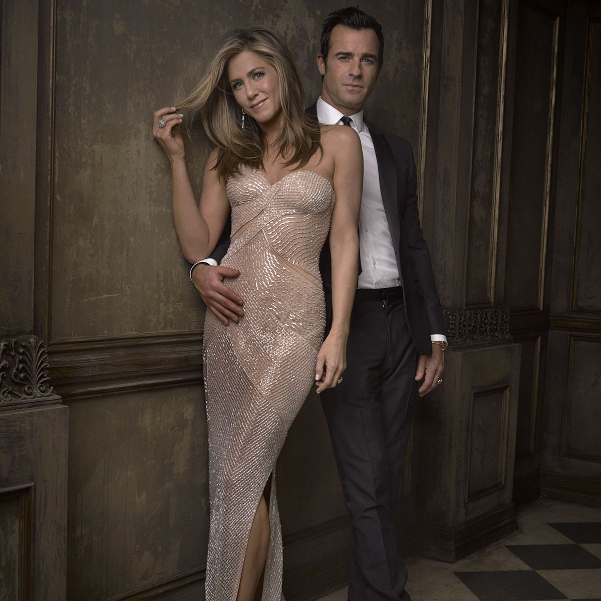 Mark Seliger's Instagram Portraits from the 2015 Oscar Party  #Oscars Jennifer Aniston and Justin Theroux
