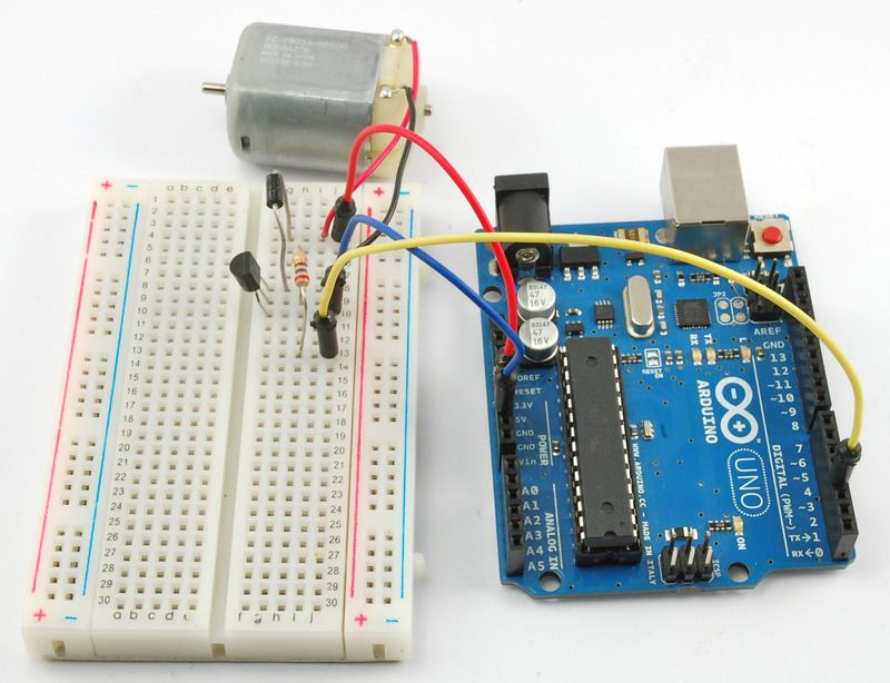In this lesson, you will learn how to control a small DC motor using ...