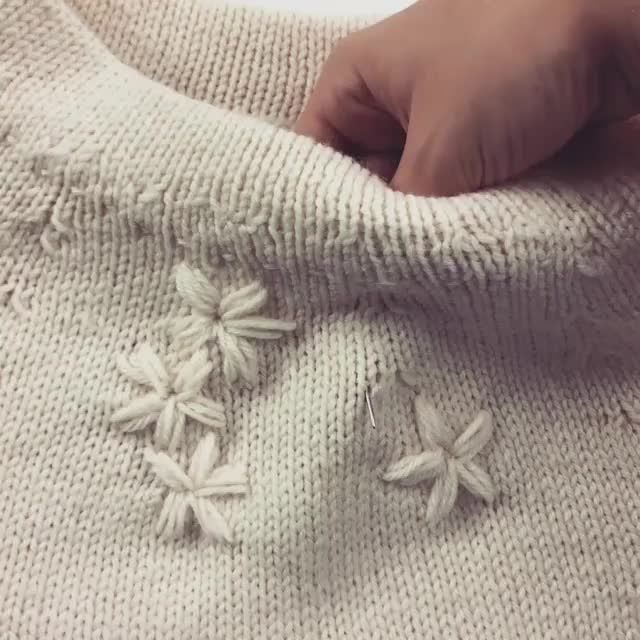 Photo of Embroider Flowers on your Knitted Sweater