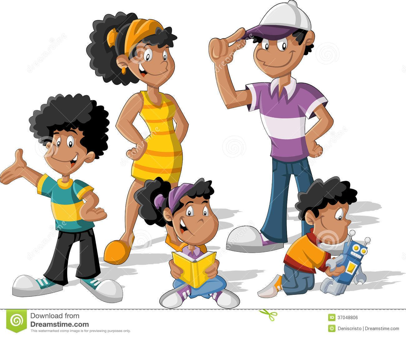 Happy Black Family Cartoon Bing Images With Images Cartoon