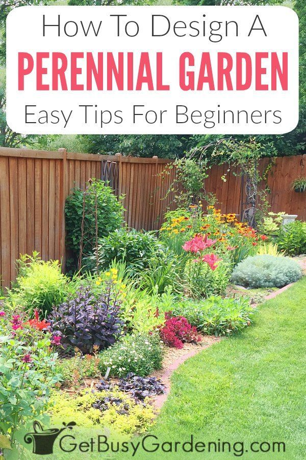Design a beautiful perennial flower garden the easy way! You can eliminate the need for a professional landscape designer to create colorful, ever-blooming flower beds with these easy tips and suggestions. Avoid the biggest rookie mistake in perennial gardening with these gorgeous ideas, and learn how to easily design a flower garden for shade or full sun. Find tips here for planning a perennial garden that has flowers blooming all summer long, and makes your yard look great in every season.