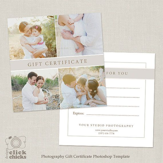 Photography Gift Certificate Template 010 by ClickChicksDesigns - cute gift certificate template