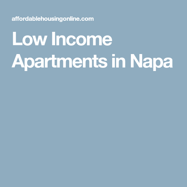 Low Income Apartments In Napa