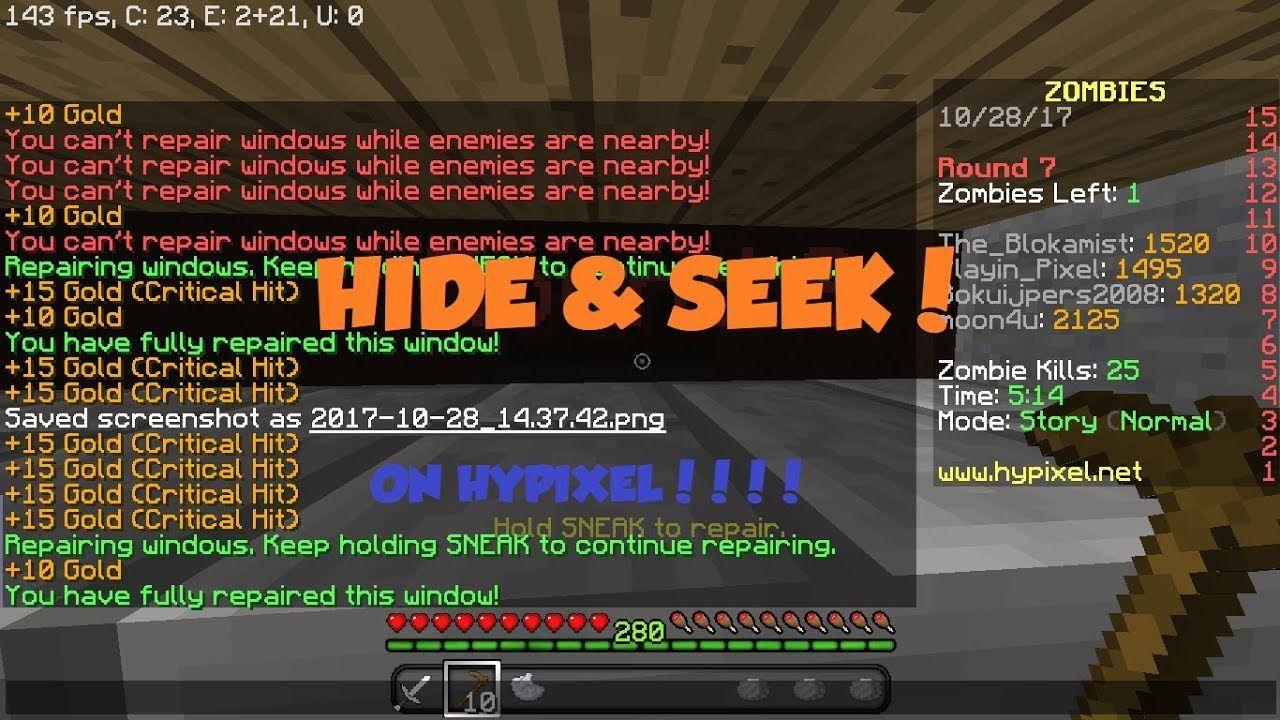 HYPIXEL HIDE & SEEK!!| new hypixel mini game | News of video game