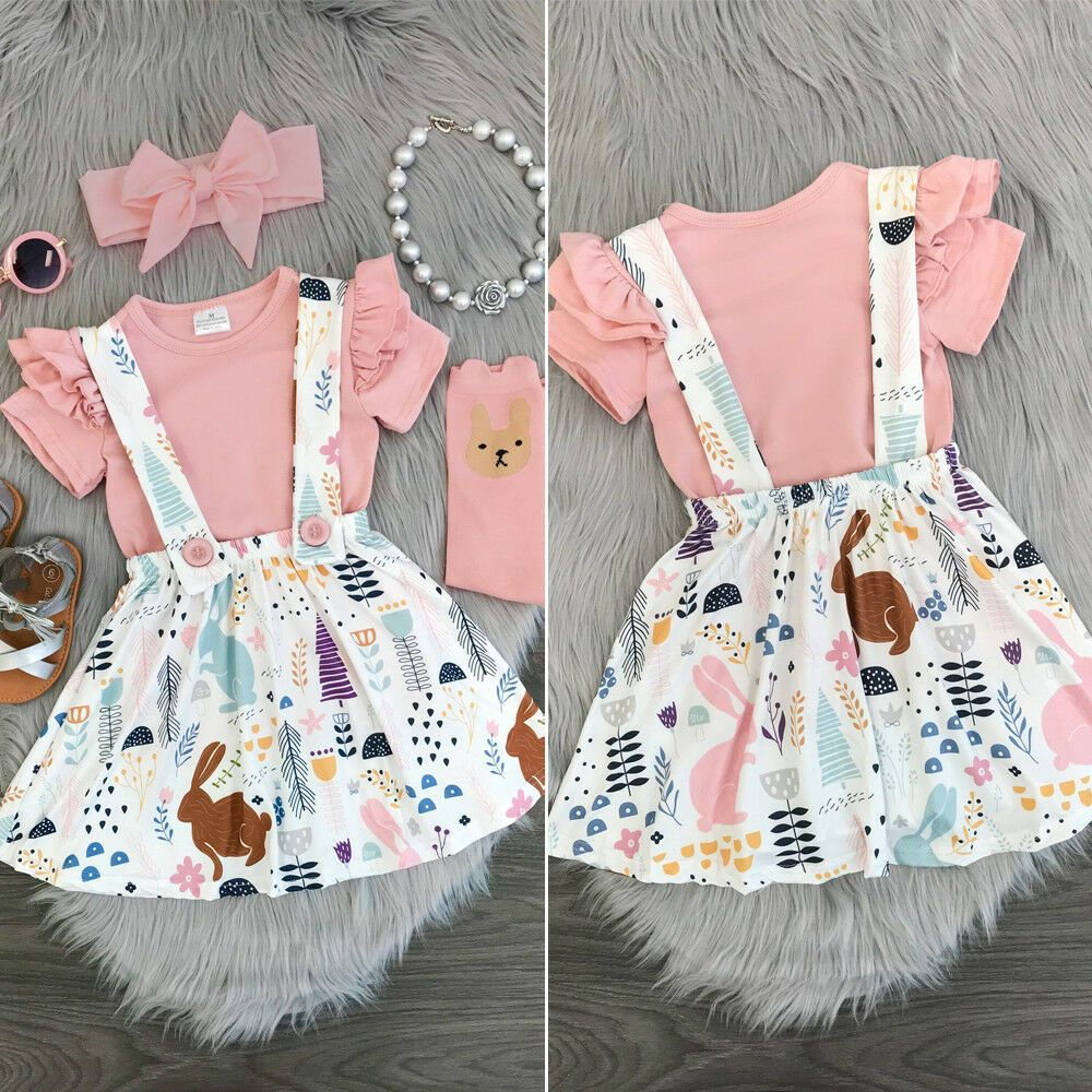 Baby Girl Toddler Tutu Princess Dress Party Pageant Summer Clothes Tops Outfit