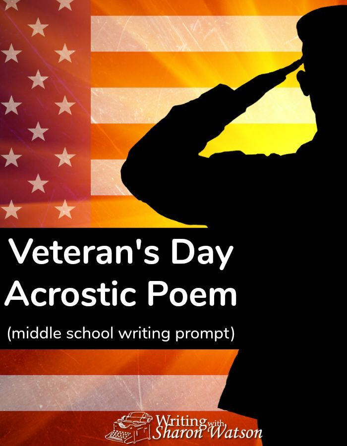 Veterans Day Acrostic Poem Middle School Writing Prompt Pinterest