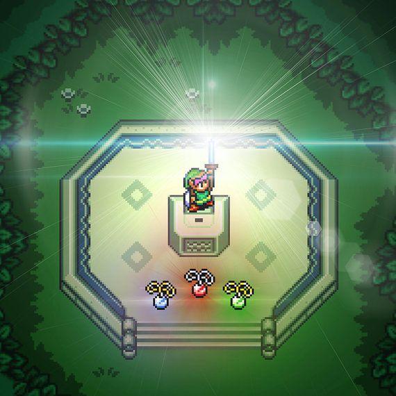Link finds the Master Sword in The Legend of Zelda: A Link