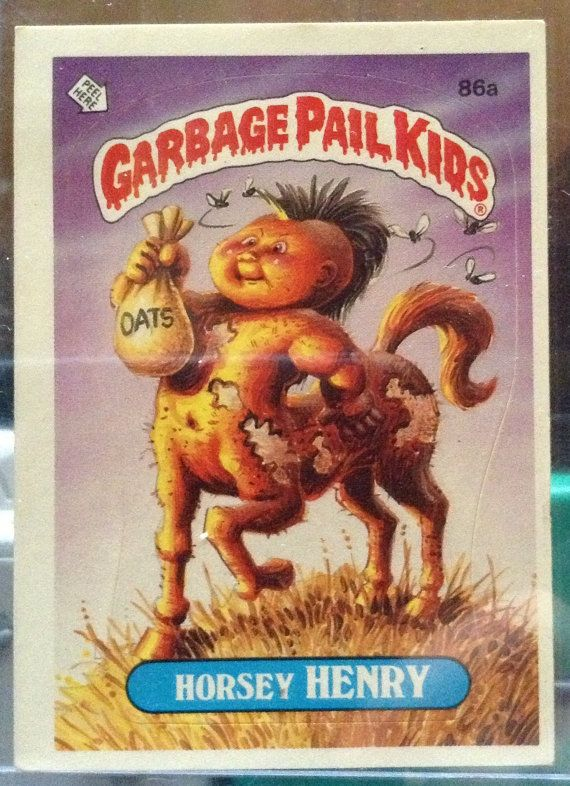 1986 Topps Garbage Pail Kids Trading Card 86a Etsy Garbage Pail Kids Garbage Pail Kids Cards Kids Stickers