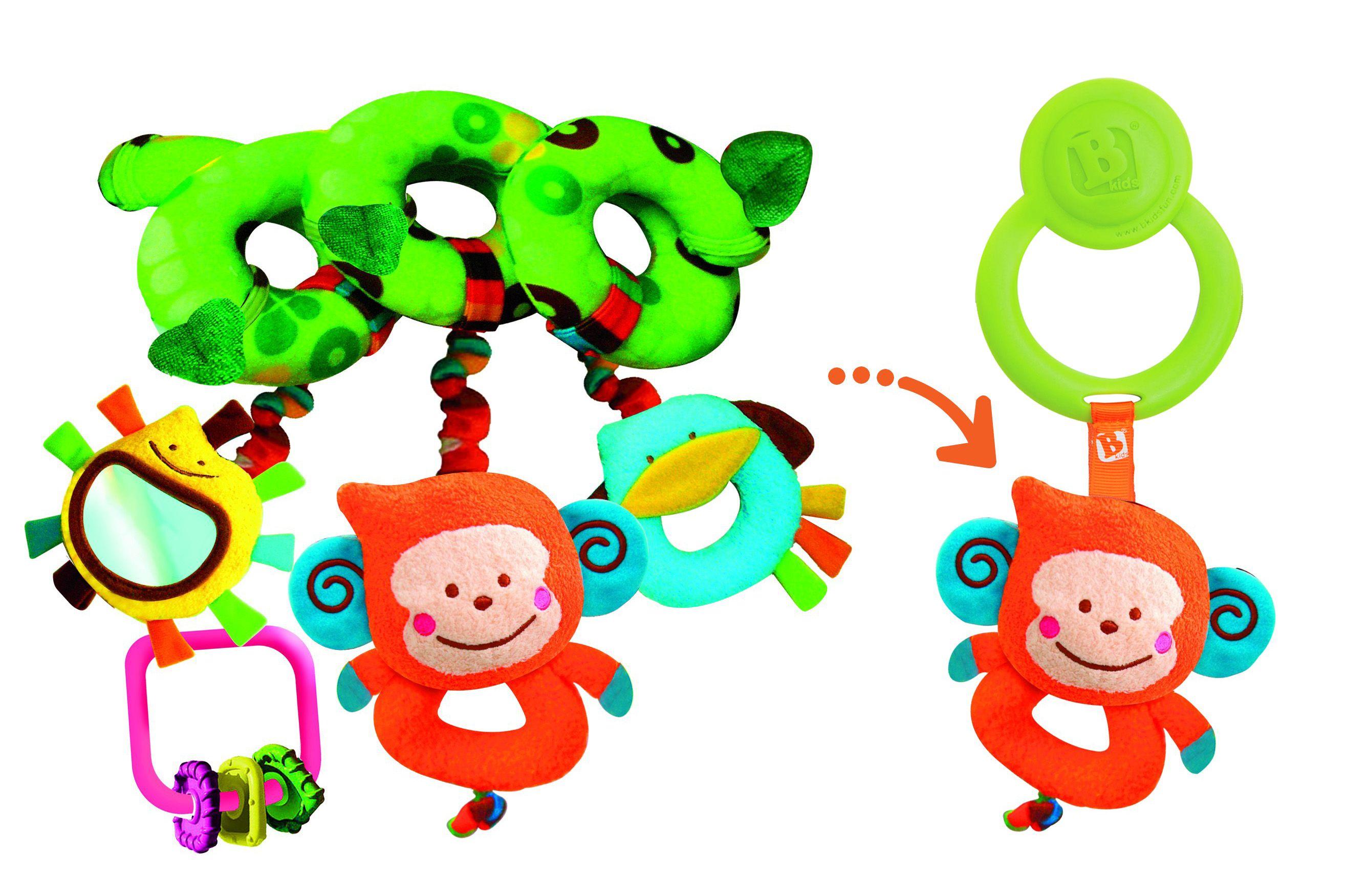 3 hochets à combiner ensemble pour 3 fois plus de plaisirs et de découverte ! et toujours le crochet pratique de bkids !   http://www.maginea.com/fr/fr/c4069/p201209240011/spirale+hochet+3+en+1/