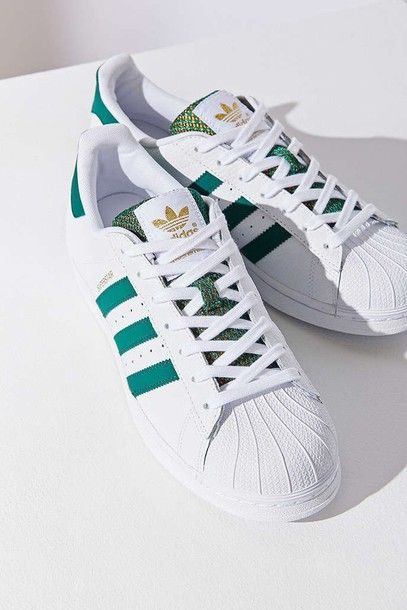 Adidas Originals Superstar 80s Gold Deluxe Flour Light Green Bars Shoes Adidas Shoes Adidas White Sneakers Adidas Shoes Women