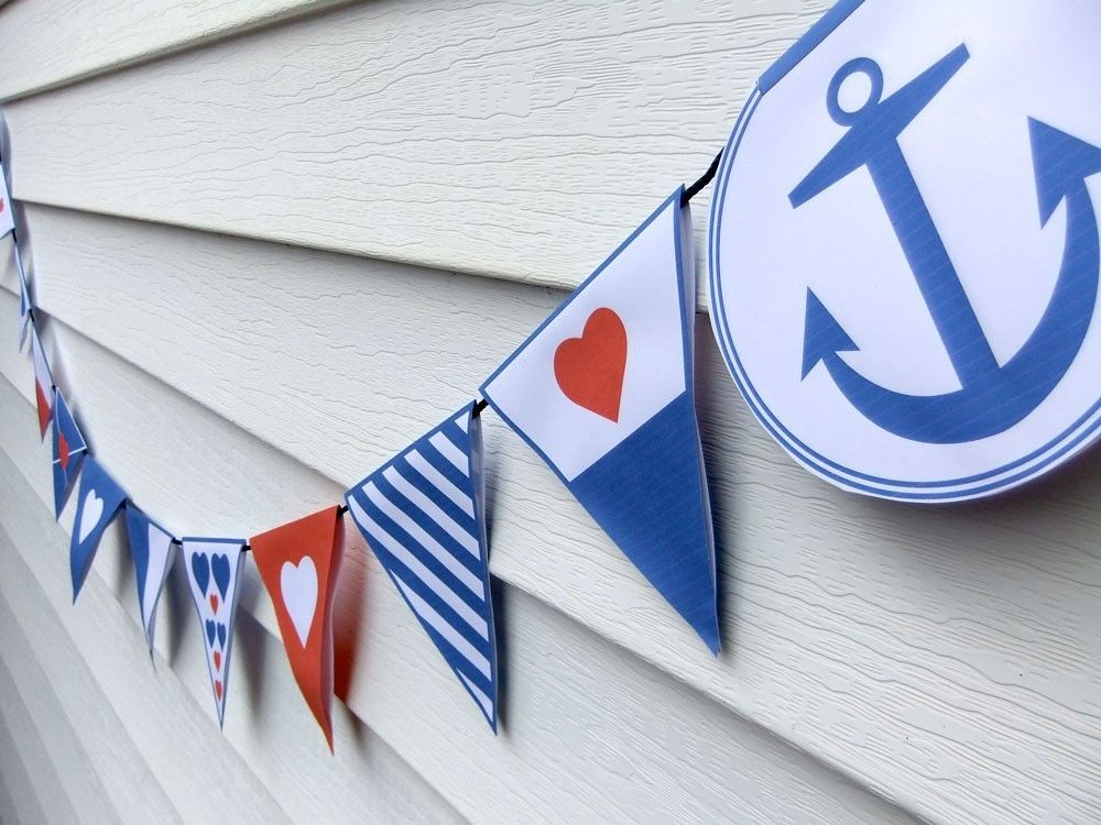 Diy nautical bunting template pdf wedding bridal shower or diy nautical bunting template pdf wedding bridal shower or party decoration pronofoot35fo Images