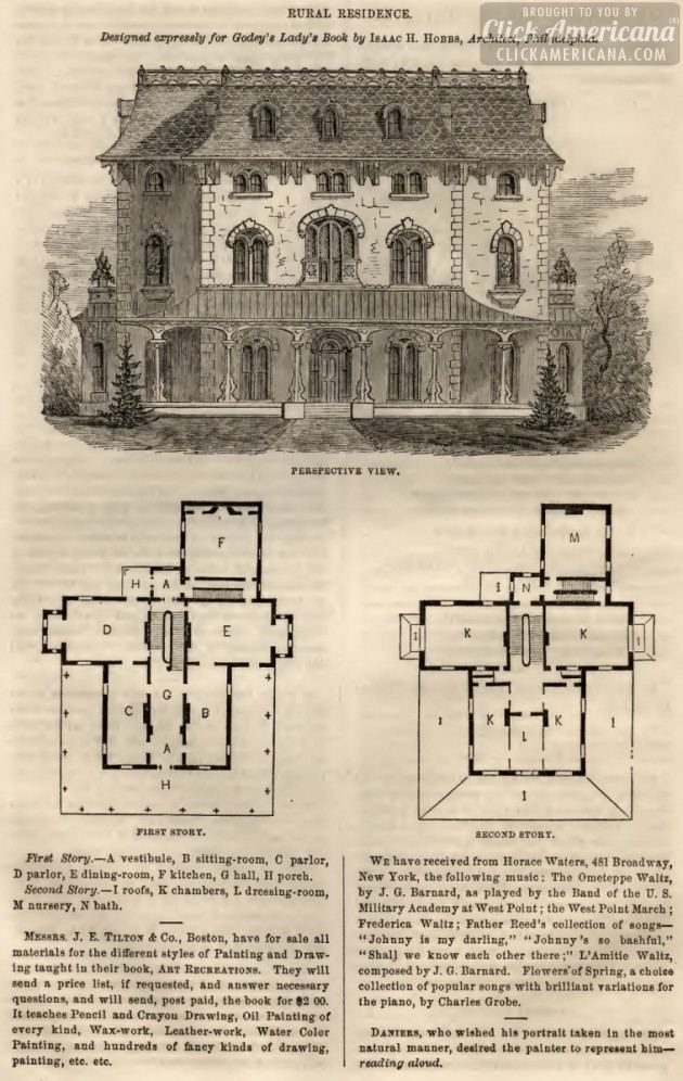 3 country & rural home designs from 1863 | Vintage house plans ...