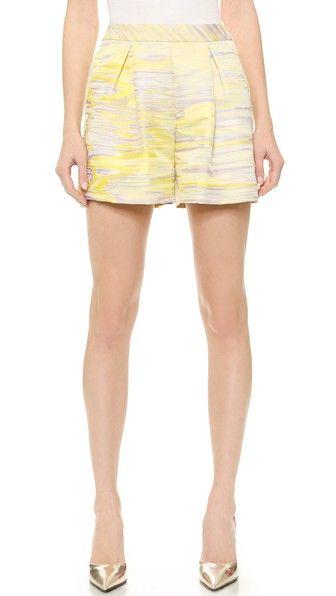 GIAMBATTISTA VALLI: Giambattista Valli Printed Shorts - Yellow Buy Now $255.0 Find at Faearch