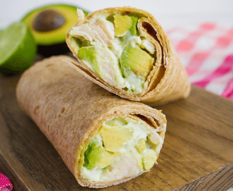 Avocado Chicken Wraps #healthydinnerrecipesvideos