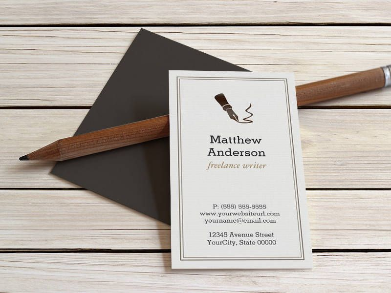 Journalist Book Editor Novelist - Stylish Classy Business Cards ...