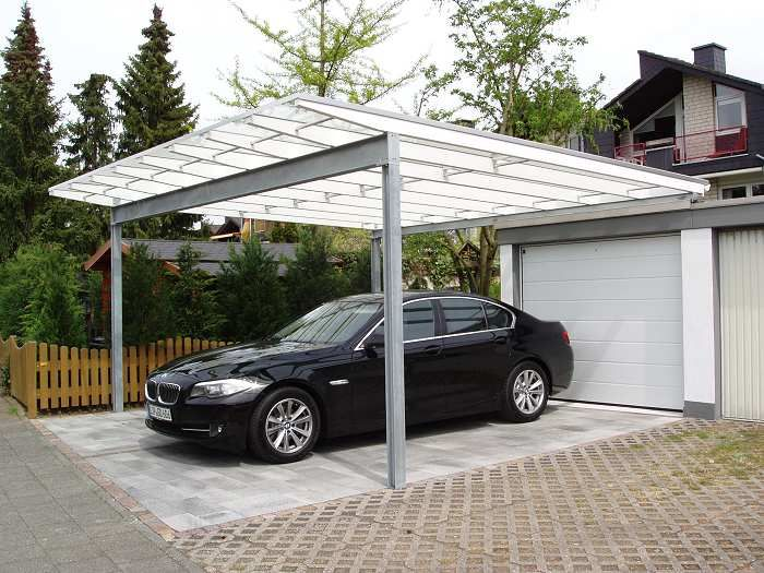 Stahlcarport Mit Glasdach In Bonn With Images Carport Outdoor Structures Pergola