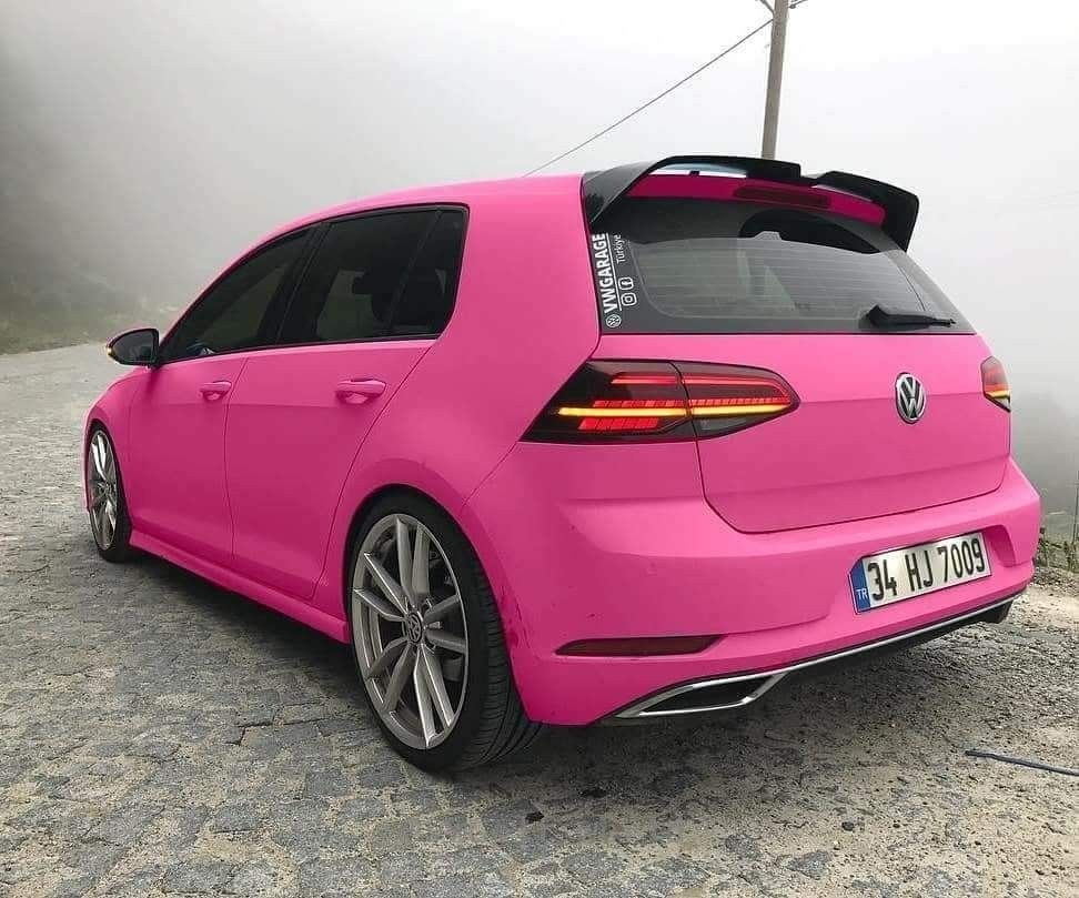 Golf mk7 pink   Cars   Volkswagen golf, Volkswagen golf r